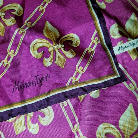 Mignon Faget Accessories Silk Fleur De Lis Scarf Poshmark